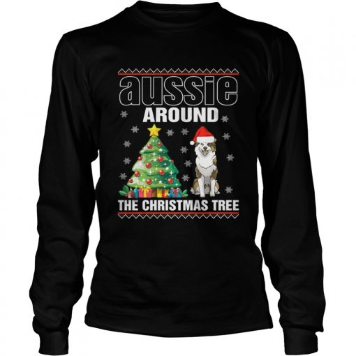 Longsleeve Tee Official Aussie Around The Christmas Tree