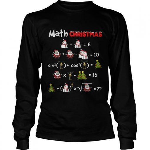 Longsleeve Tee Satan Snowman Math Christmas