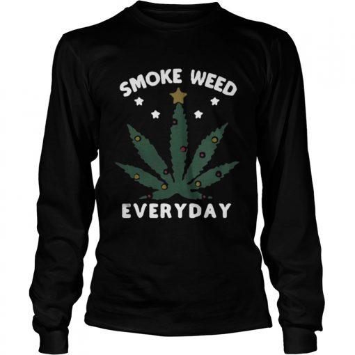 Longsleeve Tee Snoop dogg smoke weed everyday christmas