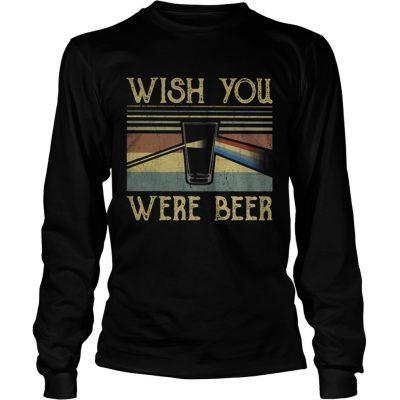Longsleeve Tee Wish You Were Beer Pink Floyd vintage