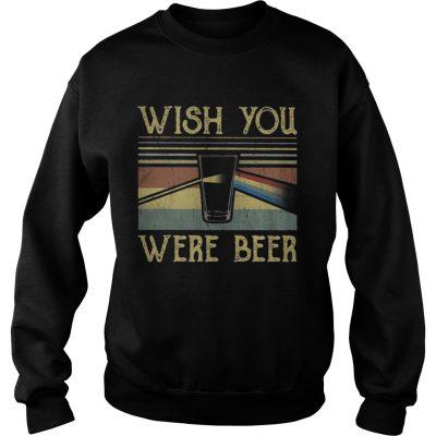 Sweatshirt Wish You Were Beer Pink Floyd vintage