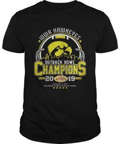 Guys 10wa hawkeyes outback bowl champions 2019 shirt