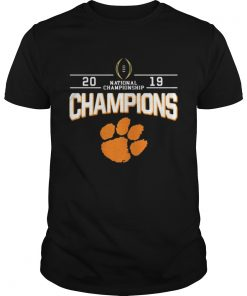 Guys 2019 Champions national championship foot shirt