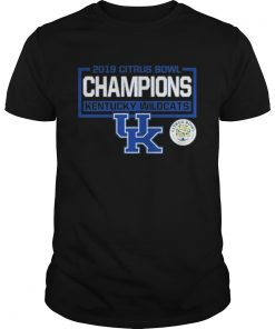 Guys 2019 citrus bowl champions kentucky wildcats UK shirt