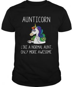 Guys Aunticorn definition meaning like a normal aunt only more awesome shirt