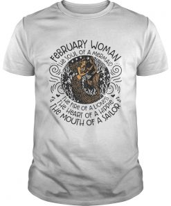 Guys Best February March woman the soul of a witch the fire of a lioness shirt