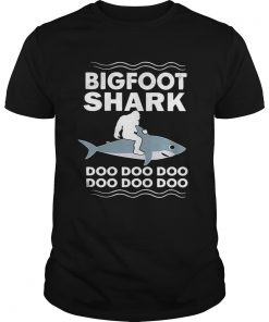 Guys Bigfoot shark doo doo doo doo doo doo doo shirt