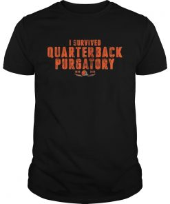 Guys Cleveland Browns I survived quarterback purgatory 19992018 shirt