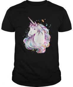 Guys Colorful Unicorn Rave Lover Funny Rainbow TShirt