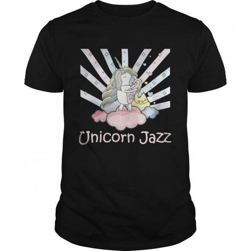 Guys Cute Unicorn Jazz Colorful TShirt