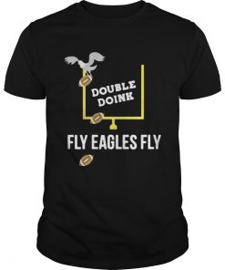 Guys Double Doink fly eagles fly shirt