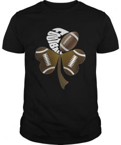 Guys Football Shamrock Heart Shirt