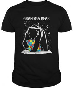Guys Grandma Bear Autism shirt