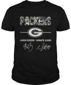 Guys Green Bay Packers Aaron Rodgers Davante Adams Shirt