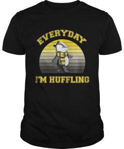 Guys Huffle Badger everyday I huffling retro shirt