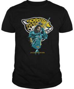 Guys Jaguarsman Aquaman And Jaguars Football Team TShirt