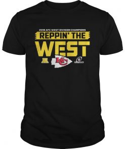 Guys Kansas City Chiefs 2018 AFC west division champions Reppin the west shirt