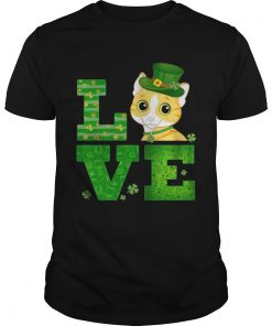 Guys Love Cat St Patricks Day Green Shamrock TShirt