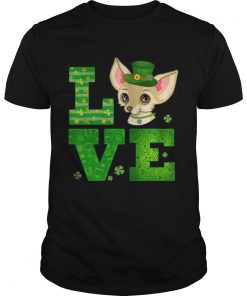 Guys Love Chihuahua St Patricks Day Green Shamrock TShirt