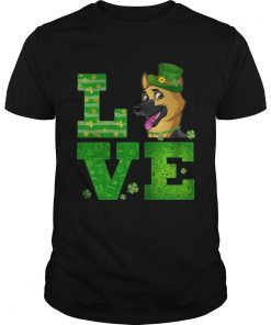 Guys Love German Shepherd St Patricks Day Green Shamrock TShirt
