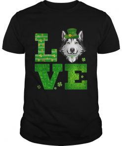 Guys Love Husky St Patricks Day Green Shamrock TShirt