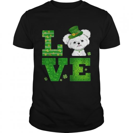 Guys Love Maltese St Patricks Day Green Shamrock TShirt