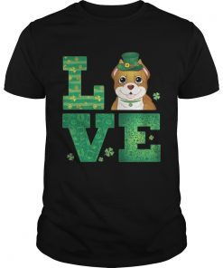 Guys Love Pit Bull St Patricks Day Green Shamrock TShirt