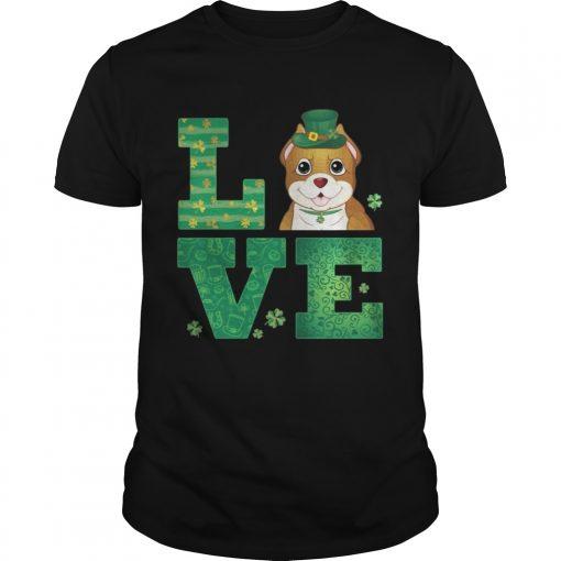 Guys Love Pit Bull St Patricks Day Green Shamrock TShirt