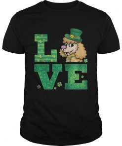 Guys Love Poodle St Patricks Day Green Shamrock TShirt