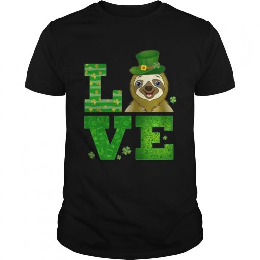 Guys Love Sloth St Patricks Day Green Shamrock TShirt