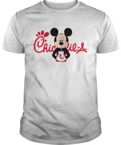 Guys Mickey mouse drinking ChickfilA shirt