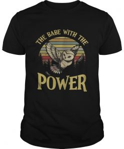 Guys Owl The babe with the power vintage shirt