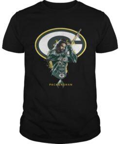 Guys Packersman Aquaman And Packers Football Team TShirt