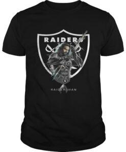 Guys Raidersman Aquaman And Raiders Football Team TShirt
