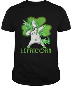 Guys St Patricks Day Dabbing Lepricorn Irish Unicorn TShirt