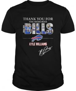 Guys Thank you for the memories Bills Kyle Williams 95 shirt