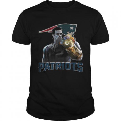 Guys TomBrady Thanos infinity gauntlet Patriots Shirt