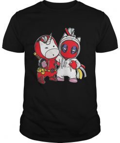 Guys Unicorn and Deadpool shirt