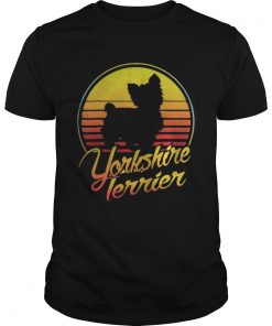 Guys Yorkshire Terrier vintage retro classic shirt