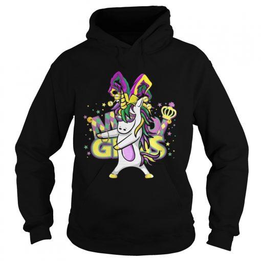 Hoodie Flossing Unicorn Mardi Gras New Orleans Party TShirt