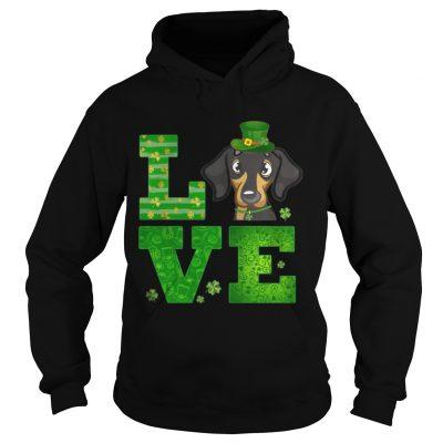 Hoodie Love Dachshund St Patricks Day Green Shamrock TShirt