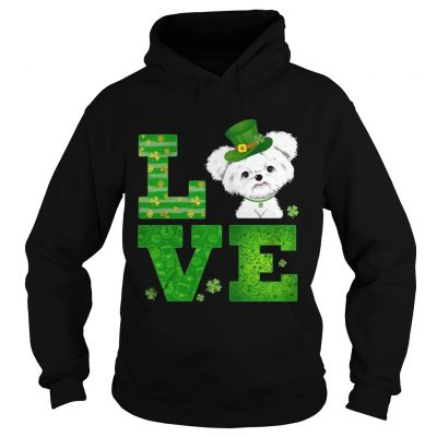 Hoodie Love Maltese St Patricks Day Green Shamrock TShirt