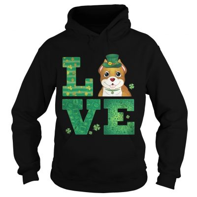 Hoodie Love Pit Bull St Patricks Day Green Shamrock TShirt