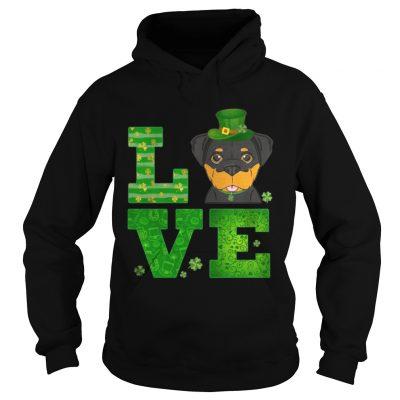 Hoodie Love Rottweiler St Patricks Day Green Shamrock TShirt