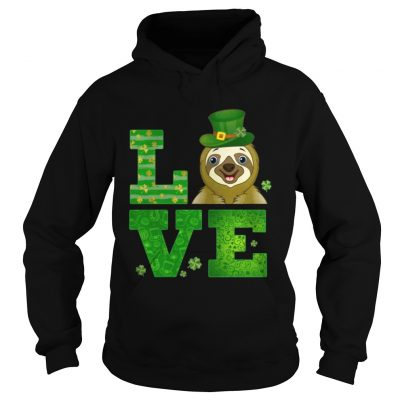 Hoodie Love Sloth St Patricks Day Green Shamrock TShirt