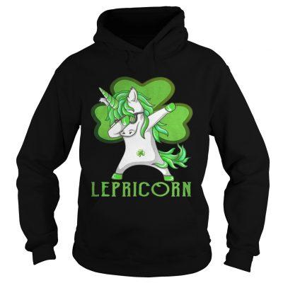 Hoodie St Patricks Day Dabbing Lepricorn Irish Unicorn TShirt