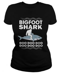 Ladies Tee Bigfoot shark doo doo doo doo doo doo doo shirt