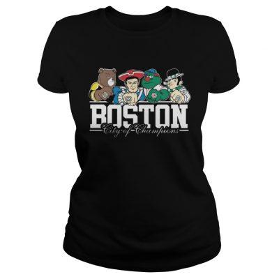 Ladies Tee Boston City Of Champions Shirt