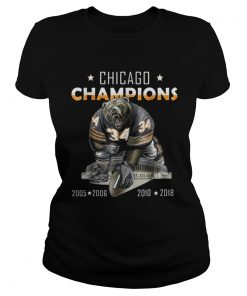 Ladies Tee Chicago champions bear 34 2005 2006 2010 2018 shirt