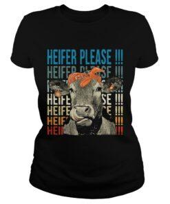 Ladies Tee Cow Heifer please shirt